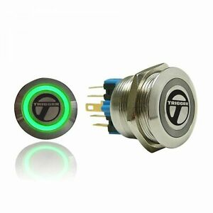 Trigger Billet Button :: Green Illumination trigger horns TRGA3 hot rod