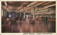 Gander Newfoundland Airport Terminal 1940s Postcard