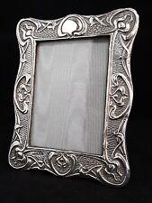 Stunning Hallmarked Sterling Silver Art Nouveau Picture Frame 1903 Birmingham