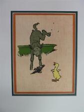 CECIL ALDIN Jumps & Bumps: Farm Babies XVIII Original Chromolithograph 1911