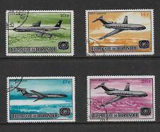 BURUNDI 1967 Opening of Bujumbura Airport, Planes, Air, Airmail, set of 4, CTO