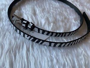 Claire's Accessories Girl's Animal Print Zebra  Fashion Belt - Size XL