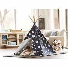 Kid Teepee Tent Wigwam Hut Playhouse Tee Pee Star Glow Indoor Portable Childrens
