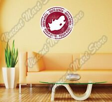"""South Africa Country Map Grunge Vintage Wall Sticker Room Interior Decor 22""""X22"""""""