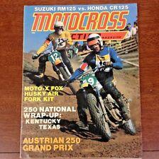 MOTOCROSS ACTION OCTOBER 1975 RM125 V CR125 LAKE WHITNEY AUSTRIA GP VINTAGE VMX