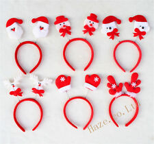 Christmas Santa Snowman Elk Bear Gloves Hairband Headband Xmas Party Decor 1pc