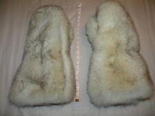 Blue Fox Fur Mittens - Double Fur Inside n Outside XXL