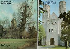 NORMANDIE ROMANE. LUCIEN MUSSET. 2 VOLUMES.  EDITIONS ZODIAQUE. 1975-74