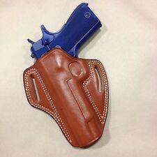 """LEFT HAND Leather  Holster COLT / KIMBER / RUGER 1911  5"""" bbl   - (# 6011L Brn)"""