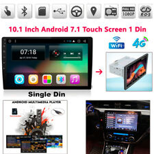 "10.1"" Single 1 DIN Car Android 7.1 Stereo Radio No-DVD Player 4G GPS HD"