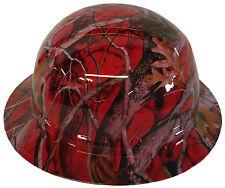 Pyramex Ridgeline Full Brim Hydro dipped Red Camo with free BRB Custom T-shirt