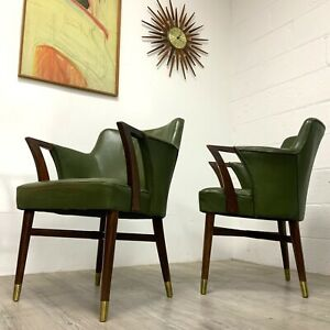 Vintage Art Deco 1930s Leather Office Study Library chair