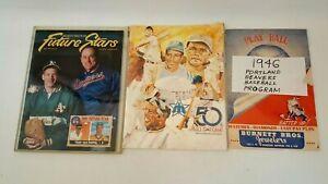 VTG BASEBALL PROGRAMS BEAVERS 1946 + 50TH ALLSTAR GAME 79 KINGDOME ISSUE #1 STAR