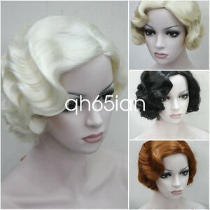 7 colors Short Finger Wave Women Ladies Daily Hair wig