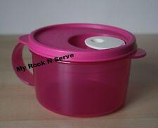 Tupperware 1 Crystalwave Microwave Safe Soup Mugs w/ Handle 16oz Pink New