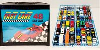 Matchbox Hot Wheels and Johnny Lightning Cars and Trucks Lot of 48 With Case