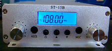 free shipping 1.5W/15W 87~108Mhz LCD Digital PLL stereo  FM transmitter onlyhost
