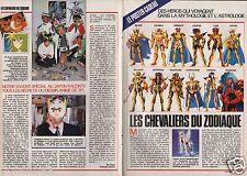 Coupure de presse Clipping 1989 Les Chevaliers du Zodiaque (3 pages)