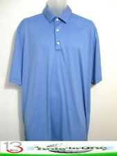 Greg Norman Play-Dry Men's Golf Shirt Short Sleeve Size Xl Blue Nice Polyester