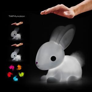 Colour Changing LED Night Light Medium White Bunny