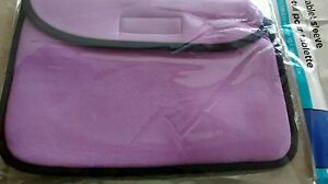 New Fabric Tablet Sleeve Cover Fits up to 10 inch Universal Lilac Purple Black
