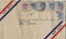 Stamps Hong Kong various issues inc 5 x 30c KGV1 on 1952 cover to Kent England