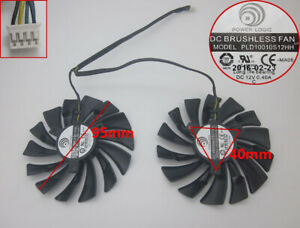 New For MSI GTX1080 1070 1060 GTX 960 970 980 GAMING Dual Fan PLD10010S12HH 95mm