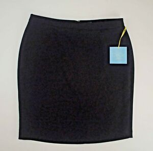 Fitted Skirt Womens 12 Black CeCe NEW Lined Cynthia Steffe Back Zipper