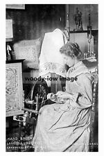 pt4206 - Hand Spinning Langdale Linen Industry , Coniston , Cumbria - photo 6x4