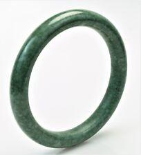 Natural Jadeite Jade Bangle Bracelet Grade A Pure Natural Stone with Certificate