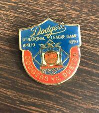 "Vintage 1990 Los Angeles Dodgers ""First NL Game"" 1.25"" Enamel Pin MLB Baseball"