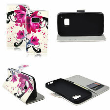 Leather Flower Skin Wallet Protective Cover Case Pouch Flip For HTC ONE M9