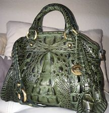 Brahmin SMALL LOUISE ROSE EMERALD Chic & Extremely Rare Green Satchel Crossbody