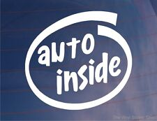 AUTO INSIDE Car/Bike/Van/Window/Bumper Sticker Ideal for Any Automatic Vehicle