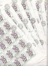 Hongrie MAGYAR Posta11 feuilles Varietes de Lys Erythronium dens canis1985 2 Ft
