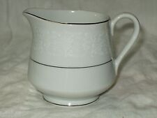 CHADDS FORD QUEEN'S LACE White CREAMER Fine Floral China Silver Platinum Trim