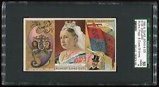 1888 N126 Duke Ruler/Coats of Arm/Flag England (Queen Victoria) Sgc 50 Vg/Ex