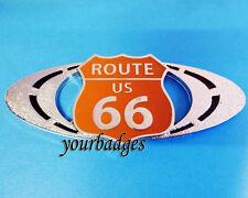 Nouveau Émail Chrome Route 66 voiture badge for American Muscle Car