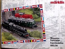 Catalogo MARKLIN Export Models 1993/94 - DEU ENG FRA - Tr.12