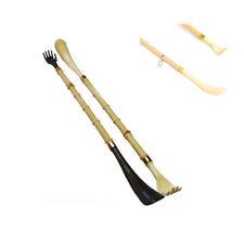 """2 New Long 20"""" Shoehorn Back Scratcher Reach Shoe Horn Hand Bamboo Massager Gift"""