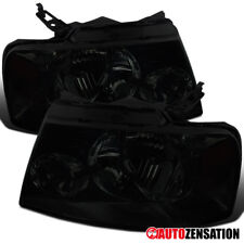 04-08 Ford F150 06-08 Lincoln Mark LT Truck Crystal Smoke Headlights Left+Right