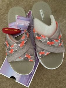 skechers on the go Tropical Sandals size UK 4 EUR 37 Natural/coral
