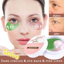 60pcs Rose/Green Seaweed Collagen Eye Mask Face Anti Wrinkle Gel Sleep Mask pd