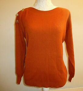 Ladies Long Sleeved Jumper- Rust- UK Size 10