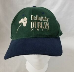 Definitely Dublin Ohio Baseball Cap Trucker Hat Adjustable Green Blue Shamrock