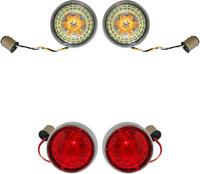Custom Dynamics ProBeam Chrome & Clear LED Turn Signal Kit Harley TC & M8
