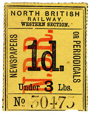 (I.B) North British Railway (Western Section) : Newspaper Parcel 1d