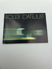 Rolex Datejust Vintage Booklet Beschreibung Instruction Manual 593.23