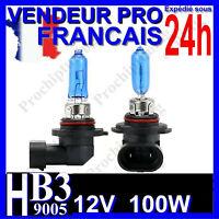 AMPOULE HB3 XENON 100W LAMPE 9005 POUR VOITURE FEU SUPER WHITE PHARE 12V 6500K