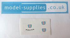 MATCHBOX 55b/55c/55d auto della polizia riproduzione Adesivi Set